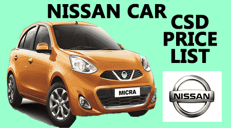 Nissan Car CSd Price List