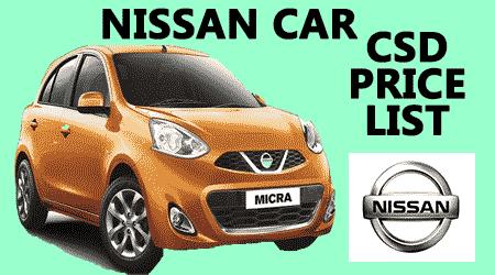 Csd canteen car price list after gst