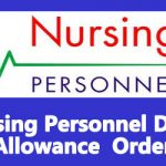 Nursing Personnel Dress Allowance  Order for 7th CPC Rates