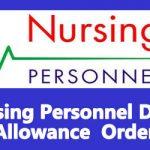 Nursing Personnel Dress Allowance Order
