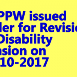 DoPPW issued Order for Revision of Disability Pension