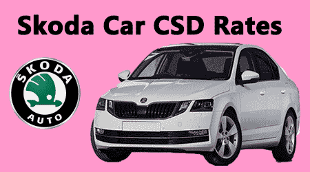 Skoda Car Csd Rates Rapid Active Rapid Ambition Rapid Style