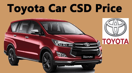 Toyota Car Csd Rates Toyota Etios Innova Csd Price List Central