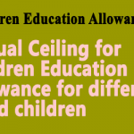 Annual Ceiling for Children Education Allowance for differently abled children