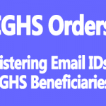 Registering of Email IDs of CGHS beneficiaries