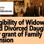 Family Pension Eligibility of Widowed and Divorced Daughter – Clarification