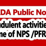 Fraudulent activities in name of NPS