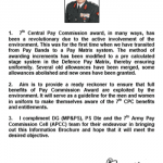 7th CPC Ready Reckoner for Army Personnel will serve as Guideline  – Adjutant General