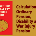 Calculation for Ordinary Pension, Disability and War Injury Pension