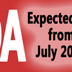 Expected DA from July 2018