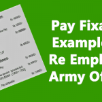 Pay Fixation Illustrations for re employed Armed forces Officers