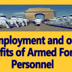 Re-Employment and other benefits of Armed Forces Personnel