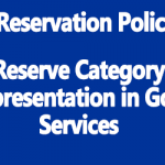 Reserve Category Representation in Govt Services