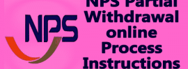 NPS Partial Withdrawal online Process Instructions