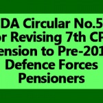 PCDA Circular No.570 for Revising 7th CPC Pension to Pre-2016 Defence Forces Pensioners
