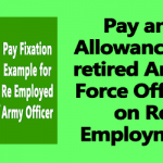 Pay and Allowances of retired Armed Force Officers on Re Employment