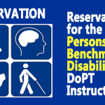 Reservation for the Persons with Benchmark Disabilities – DoPT Instructions