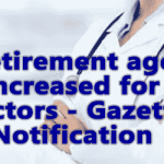 Retirement age increased for Doctors