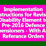 Revised Disability Element to Pre-2016 Defence pensioners