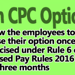 Revision of Option to switch over to 7th CPC to be allowed again – NCJCM Staff Side
