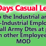 10 Days Casual Leave Order
