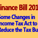 Changes in Income Tax Act