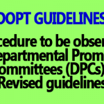 Departmental Promotion Council Procedure - DoPT OM Dated 08.02.2002