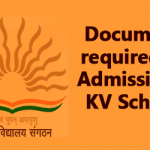 Documents required for Admission in KV Schools for Academic year 2016 -17