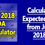 Calculate Expected DA from July 2018 - DA Calculator