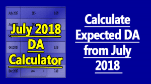 July 2018 DA Calculator
