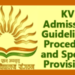 KV Admission Guidelines and Procedure 2018