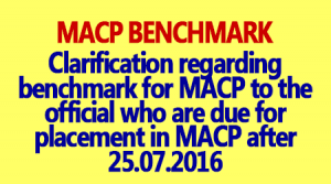 MACP Benchmark Criteria