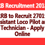 RRB to Recruit 27019 Assistant Loco Pilot and Technician – Apply Online