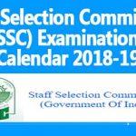 SSC Examination Calendar 2018