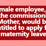 Commissioning Mother entitled to apply for Maternity Leave