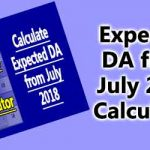 Expected DA from July 2018 Calculator
