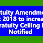 Gratuity Amendment Act 2018