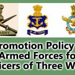 Promotion Policy in Armed Forces for Officers of Three Wings