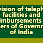 Telephone Facilities to Central Govt Officers