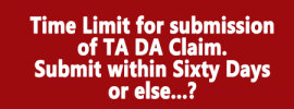 Time Limit for submission of TA DA Claim