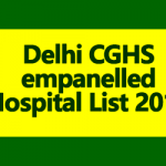 New Delhi CGHS empanelled Hospital List 2018