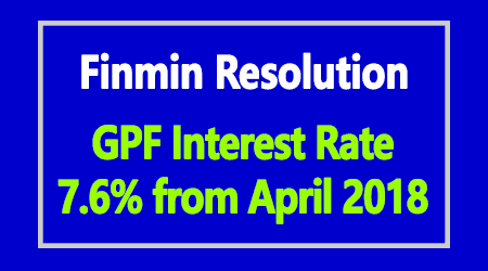 GPF Interest Rate from April 2018