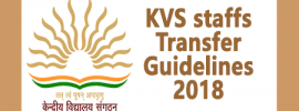 KVS staffs Transfer Guidelines 2018
