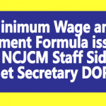 Minimum Wage and Fitment Formula issue - NCJCM Staff Side Met Secretary DOPT