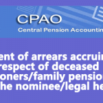 Payment of Pension arrears to the nominees of Deceased Pensioners