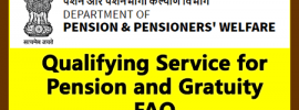 Qualifying Service for Pension and Gratuity