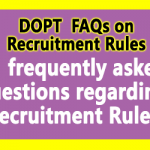 Recruitment Rules for CG Staffs