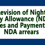 Revision of Night Duty Allowance (NDA) Rates