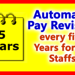 Automatic Pay Revision every Five Years for CG Staffs