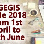 CGEGIS Table 2018 from 1st April to 30th June